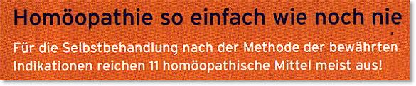 Homöopathie so einfach wie nie