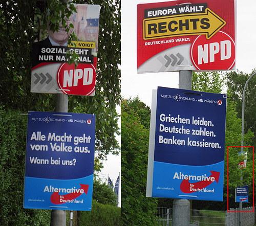 Plakate am Straßenrand